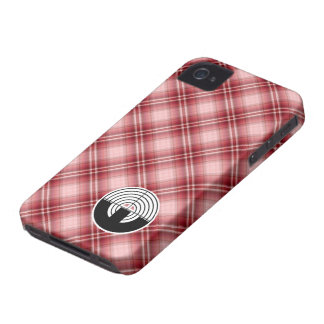 Red Plaid Sport Shooting Case-Mate iPhone 4 Cases