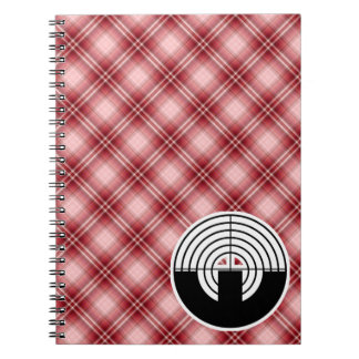 Red Plaid Sport Shooting Notebooks