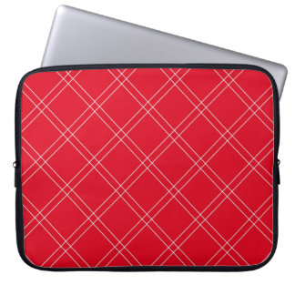 Red Plaid Stripe Laptop Sleeve