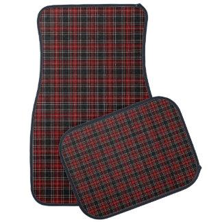 Red Plaid / Tartan Car Mats (Full Set of 4) Floor Mat