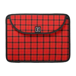 Red Plaid Tartan Pattern MacBook Pro Sleeves