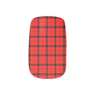 Red Plaid Tartan Pattern Minx Nail Wraps