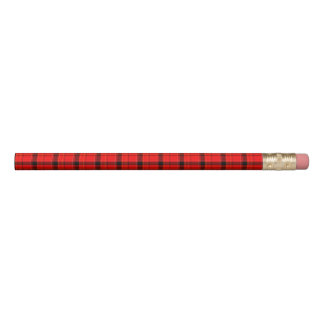 Red Plaid Tartan Pattern Pencil