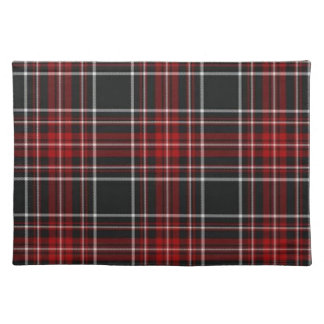 Red Plaid Tartan Placemat Cloth Placemat