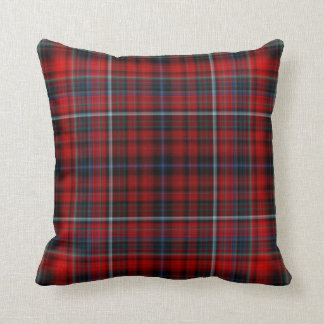 Red Plaid Throw Pillow