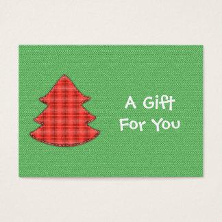 Red Plaid Tree Gift Tags
