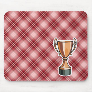 Red Plaid Trophy Mousepads