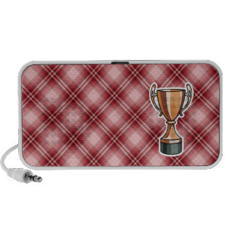 Red Plaid Trophy Mp3 Speakers