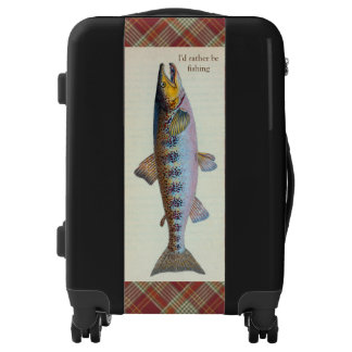 Red Plaid Trout Fishing Luggage