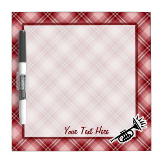 Red Plaid Trumpet Dry-Erase Boards
