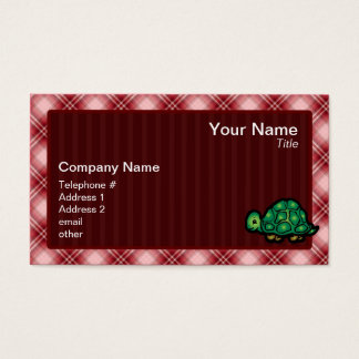 Red Plaid Turtle Business Card