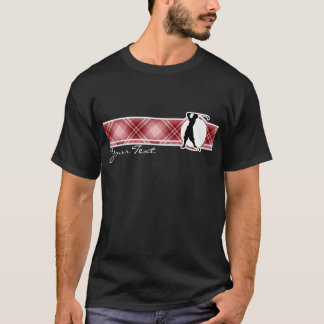 Red Plaid Vintage Golfer T-Shirt