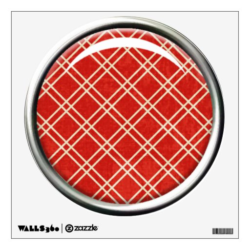 Red Plaid Wall Decal