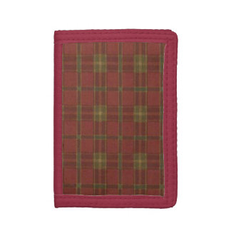 Red Plaid Wallet