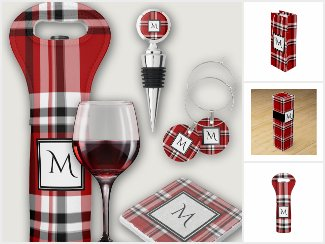 Red Plaid Wine Gifts