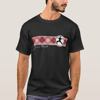 Red Plaid Yoga T-Shirt