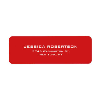 Red Plain Elegant Modern Trendy Label
