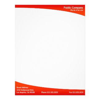 Red plain simple modern elegant letterhead