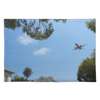 Red Plane against a Blue Sky Placemat