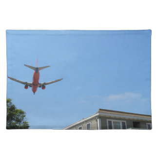 Red Plane Coming in For a Landing Placemat