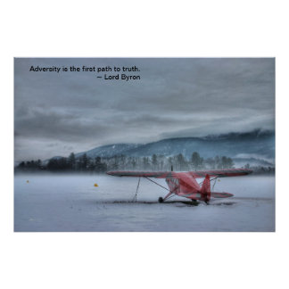 Red Plane in Gathering Stm: Byron Adversity Poster