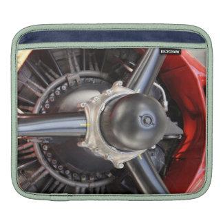 Red plane motor Sleeve iPad Sleeves