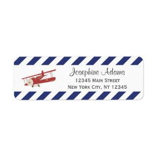 Red Plane Return Address Labels