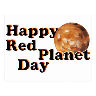 Red Planet Day Postcard