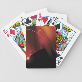 Red Planet Digital Design Bicycle Playing Cards
