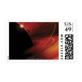 Red Planet Digital Design Postage Stamps