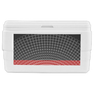 Red Planet Geometric Pattern Ice Chest