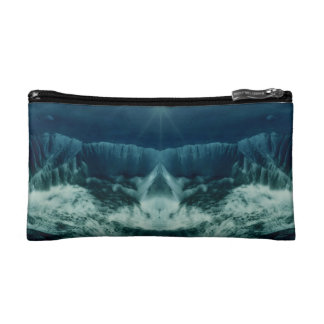 Red Planet in Blue Makeup Bag