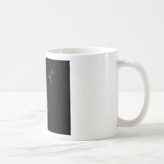 red planet in the universe with aura and stars coffee mug