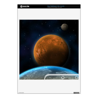 Red Planet PlayStation 3 Slim Console Skin Decal For PS3 Slim