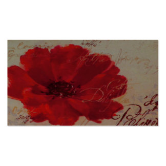 Red Plantes Business Card