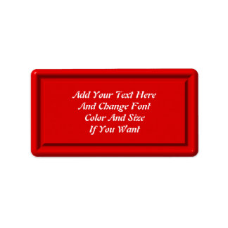 Red Plastic Label Template