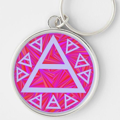 Red Plato's Air Symbol Art Key Chain