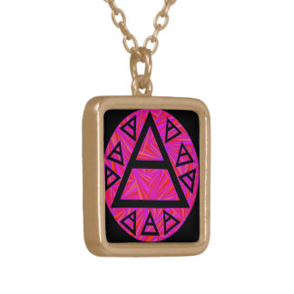Red Plato's Air Symbol Art Necklace