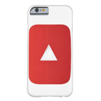 Red Play Button phone case, Go ahead click on the Barely There iPhone 6 Case