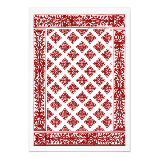 Red Playing Card Matching RSVP (back side)