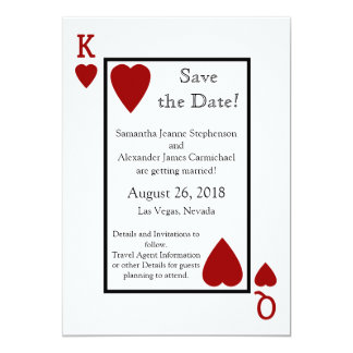 Red Playing Card Save the Date