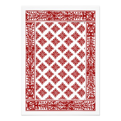 Red Playing Card Wedding Invitations (back side)