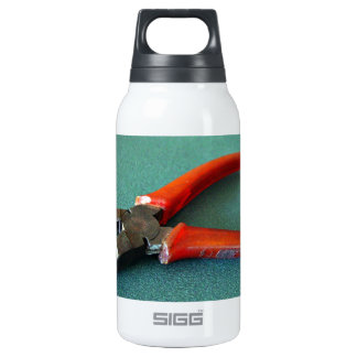 Red Pliers on table Thermos Water Bottle