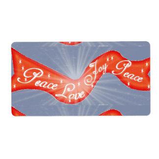Red PLJ Banner Label