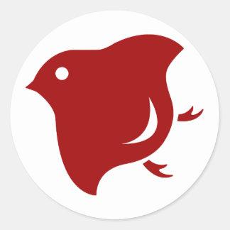 red plover sticker