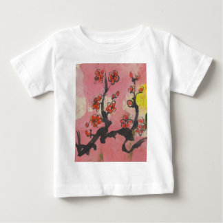 Red Plum Blossoms Baby T-Shirt