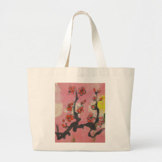 Red Plum Blossoms Tote Bags