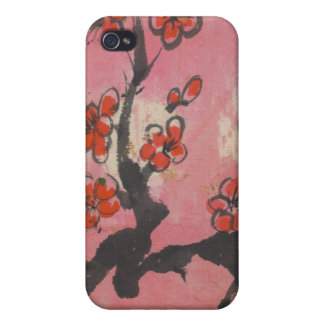 Red Plum Blossoms iPhone 4 Covers