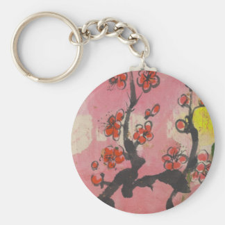 Red Plum Blossoms Keychains