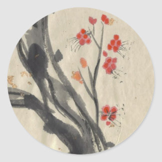 Red Plum Blossoms Stickers